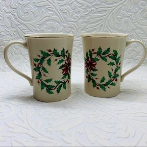 Lenox warmest wishes holiday mug